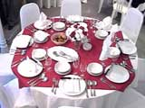 Table set with chair covers